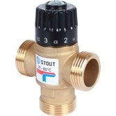 Клапан термостатич. смесит. 1  резьба t 35-60 (упс 2,5) STOUT