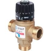 Клапан термостатич. смесит. 3/4  резьба t 35-60 (упс 1,6)STOUT