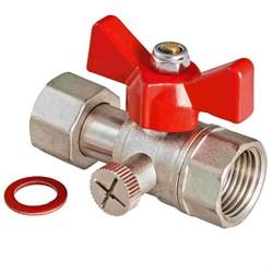 VT.807.N Кран шаровый для подключения манометра 1/2 вн.-1/2 вн. - фото 4660