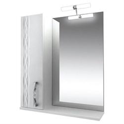 Зеркало-70 бел. подсв. шкаф. левый Кристи - фото 5718