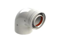 Отвод коаксиальный 60/100 MF 90(Протерм)